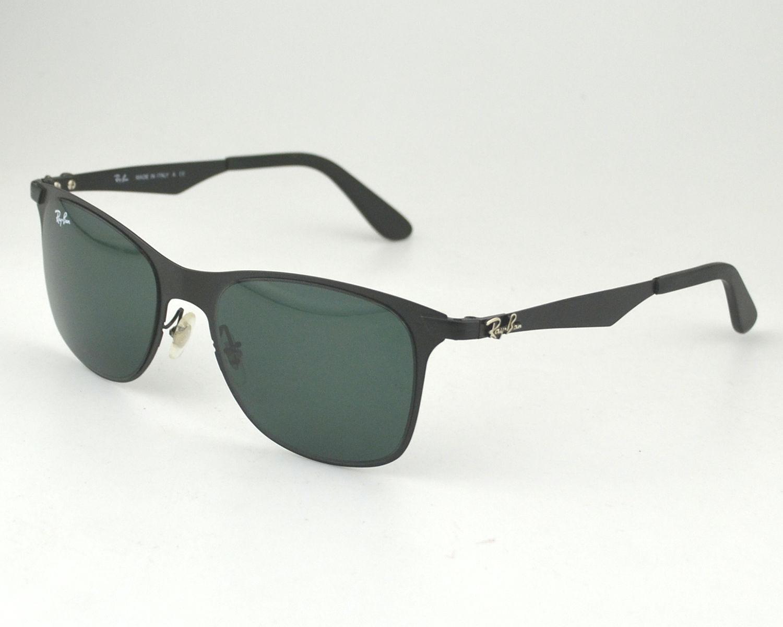 273c83f18df Ray Ban RB3521 Wayfarer Flat Metal 006 71 Black Frame  Green Classic Lens  Sunglasses 52mm