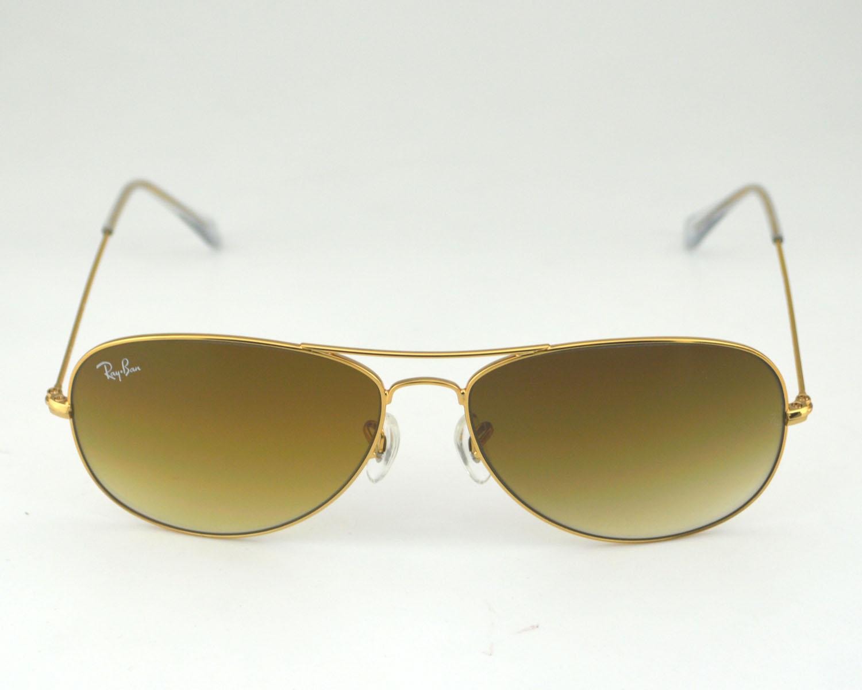 961de56c6c Ray Ban RB3362 Cockpit 001 51 Gold Frame  Light brown Gradient Glass Lens  Male Sunglasses 59mm