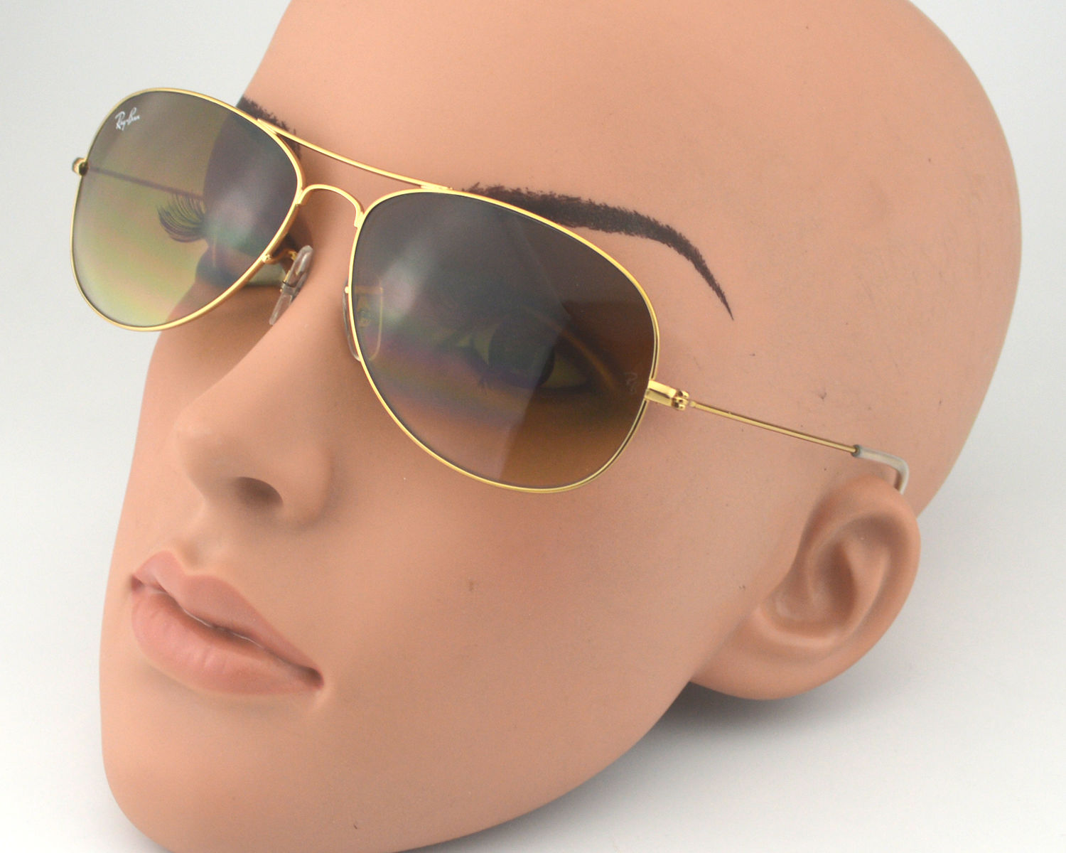 0ded94923db83 Ray Ban RB3362 Cockpit 001 51 Gold Frame  Light brown Gradient Glass Lens  Male Sunglasses 59mm