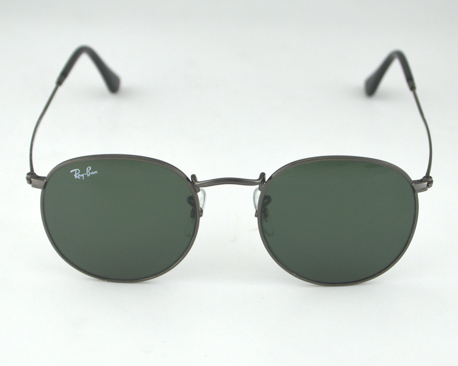 a1959af106 Ray Ban RB3447 Round Metal 029 Gunmetal Frame  Green Classic G-15 Lens  Sunglasses 50mm