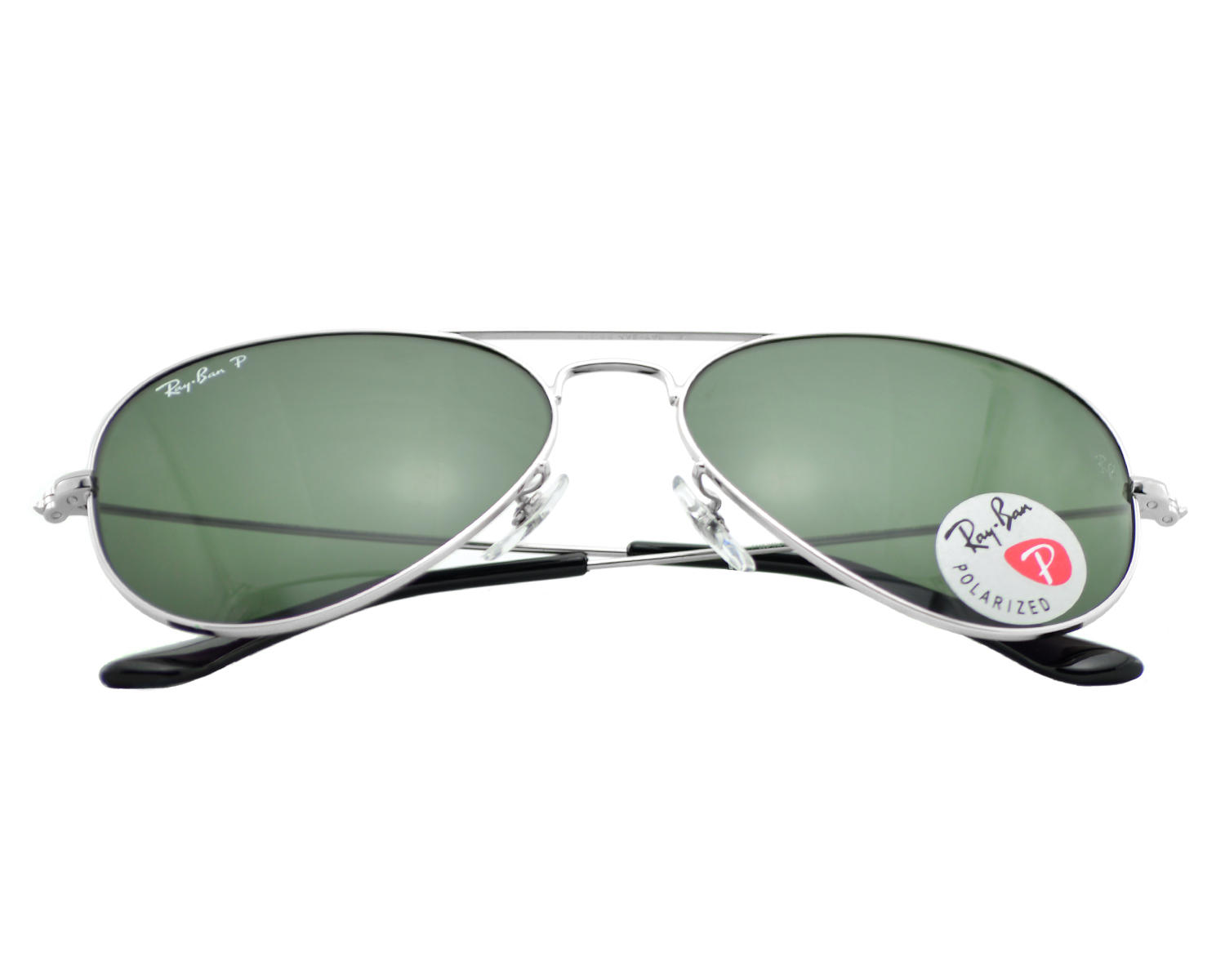 ray ban aviator 55mm silver