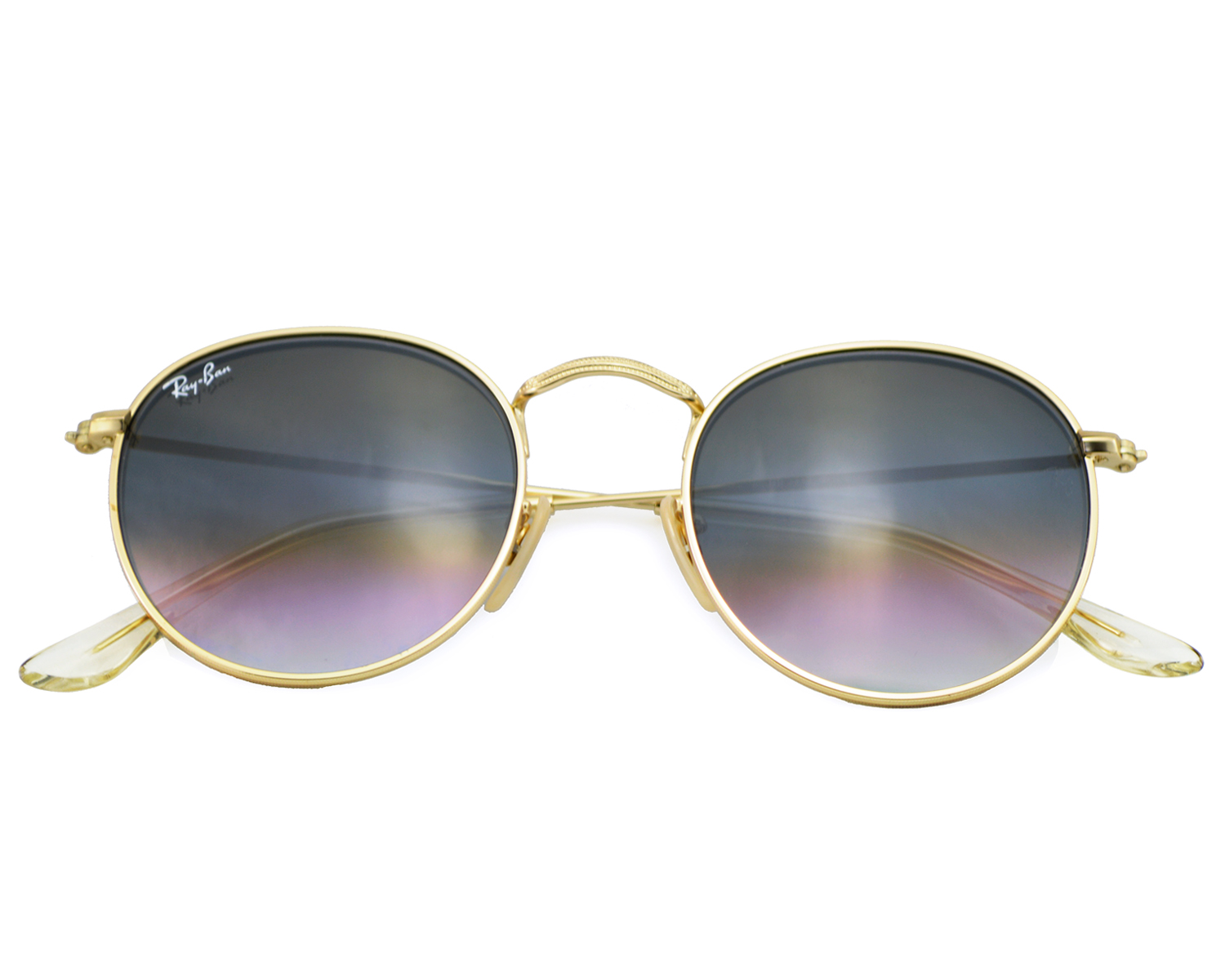 2f335425af7ce Ray-Ban RB3447 Round Metal 112 32 Gold Frame Grey Gradient ...