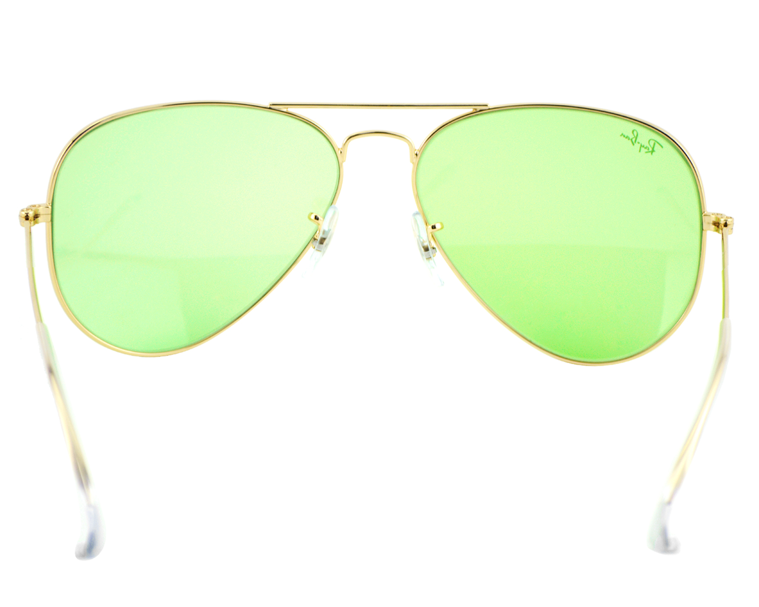 500f480ca29 Ray-Ban RB3025 Aviator Large Metal 001 14 Gold Frame  Light green Unisex  Sunglasses 58mm