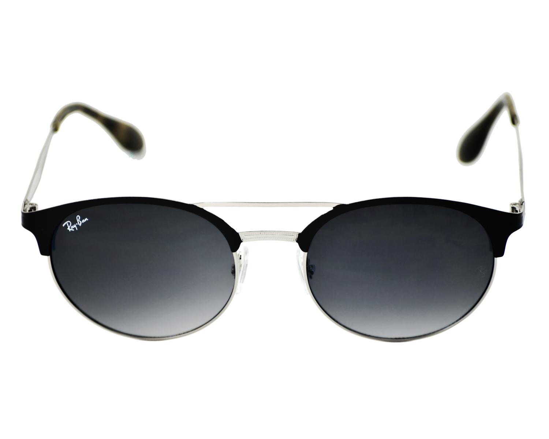5da6f10e5f RayBan RB3545 9004 11 Black Silver Frame Grey Gradient Lenses Unisex  Sunglasses 54mm