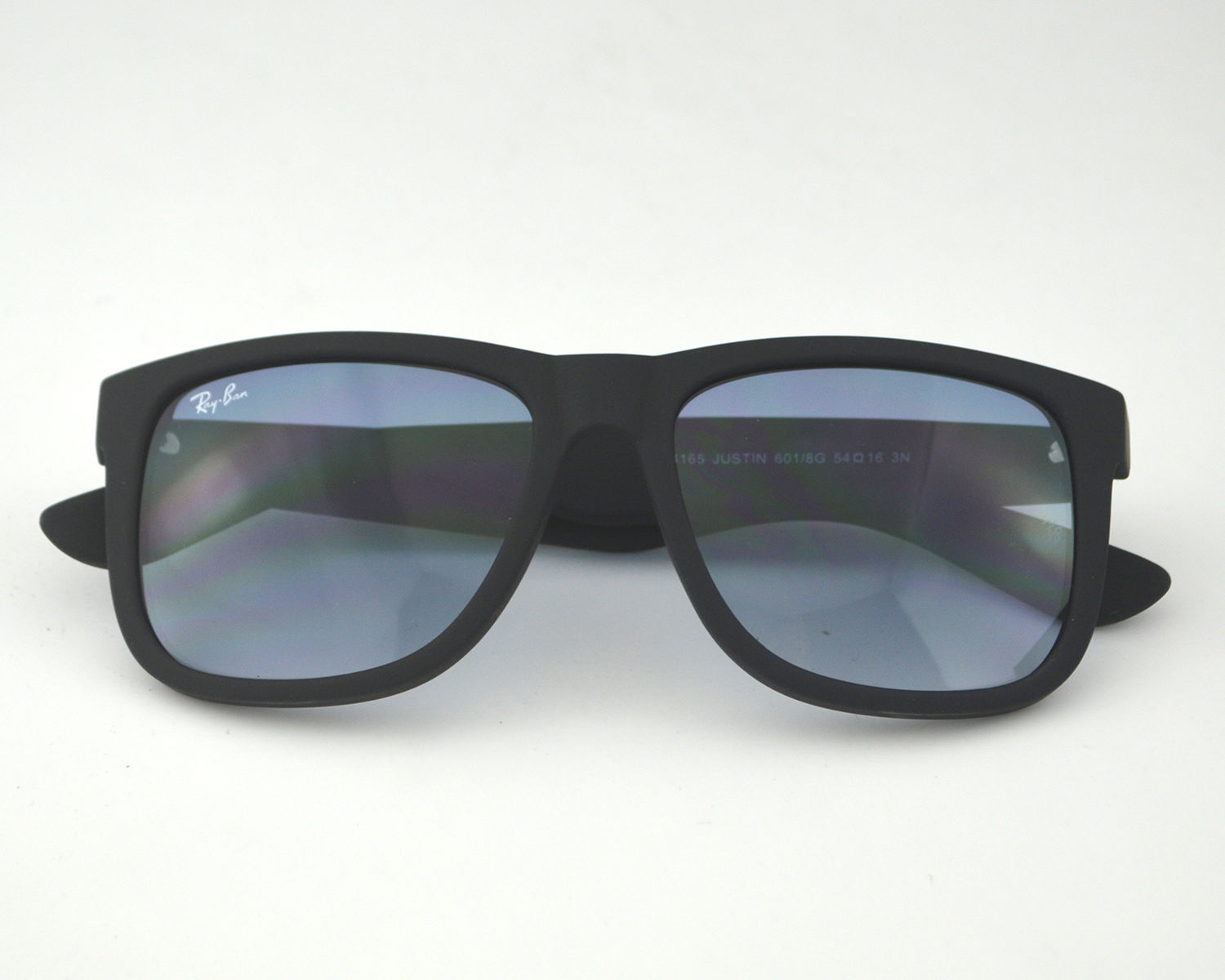 2a0150a4ab Ray Ban RB4165 Justin Classic 601 8G Black Frame Grey Gradient Lenses  Sunglasses 55mm