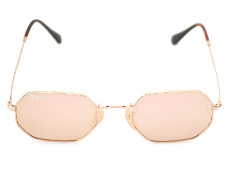 f0768ceb92 Ray-Ban RB3556N Octagonal Flat Lenses 001 Z2 Gold Frame Copper Flash Lenses  Unisex Sunglasses 53mm