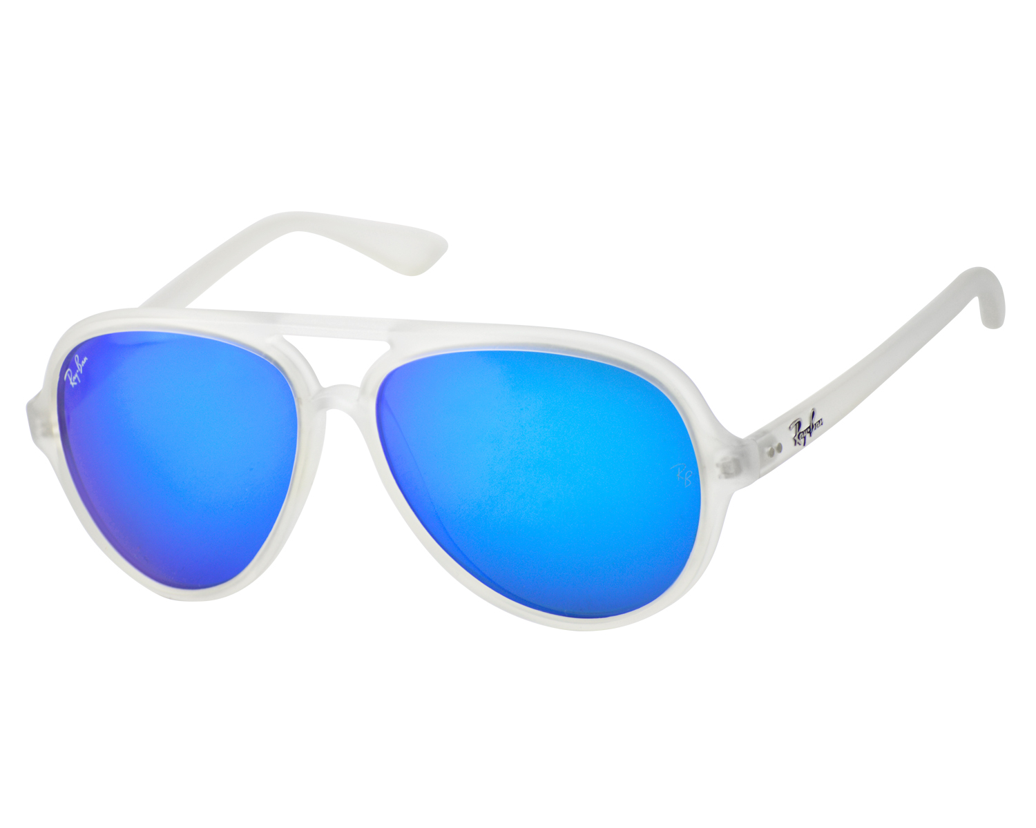 dc762c33fa ... official store ray ban rb4125 cats 5000 flash lenses 646 17 transparent  frame blue flash lenses