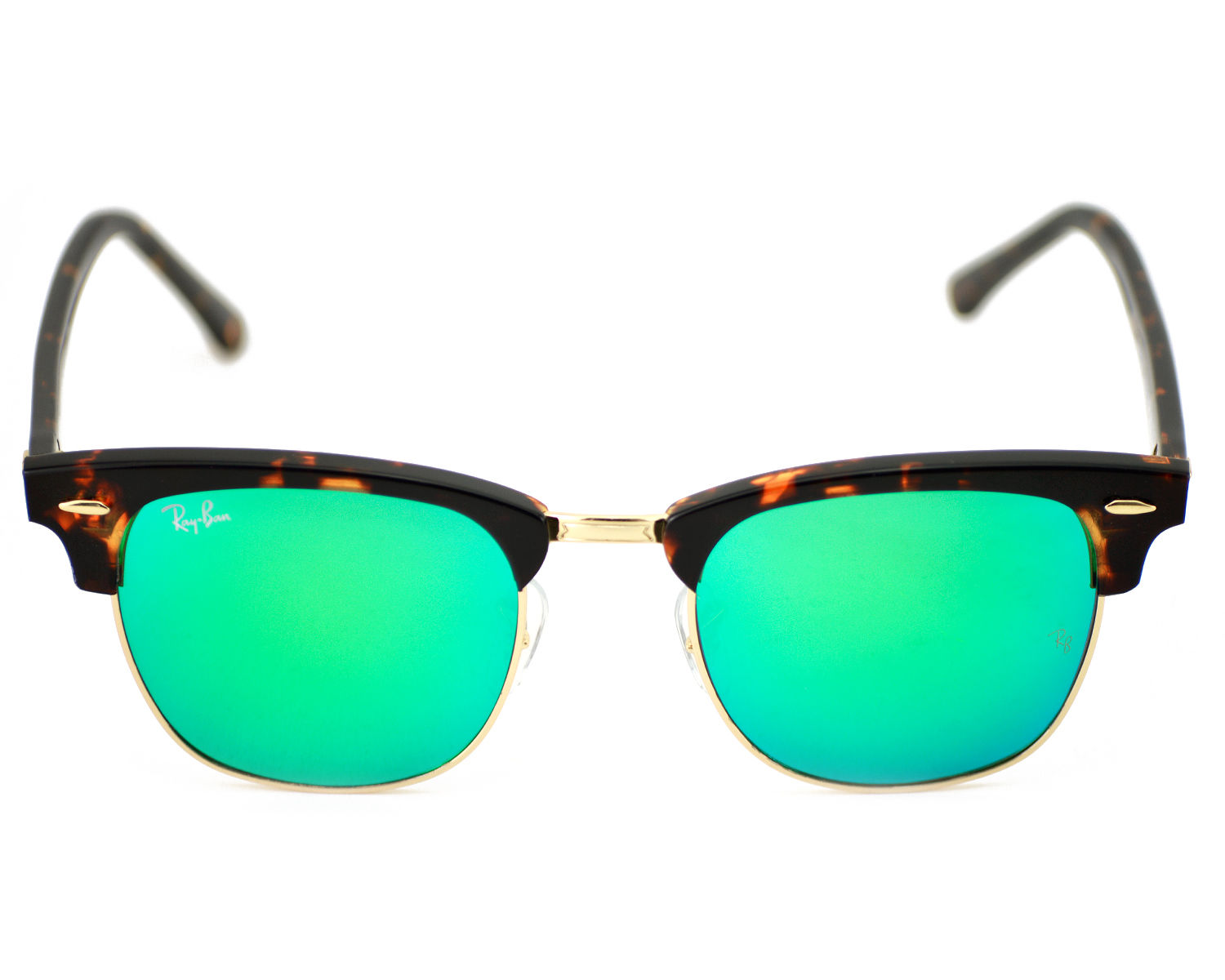 d905966eaa ... denmark ray ban rb3016 clubmaster flash lenses 1145 19 tortoise frame  green flash unisex sunglasses 51mm