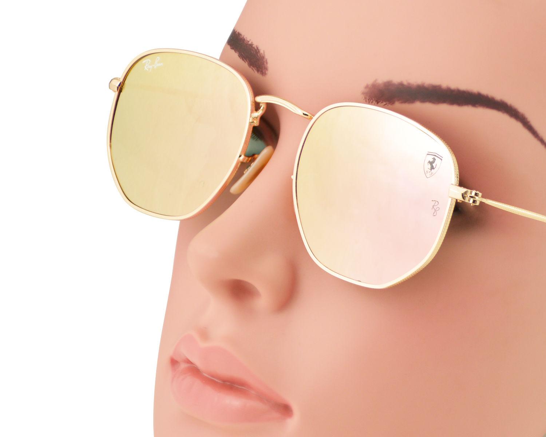 9447d45d464 Ray-Ban RB3548NF F008 Z2 Gold Frame Copper Mirror Flash Lenses Unisex  Sunglasses 51mm