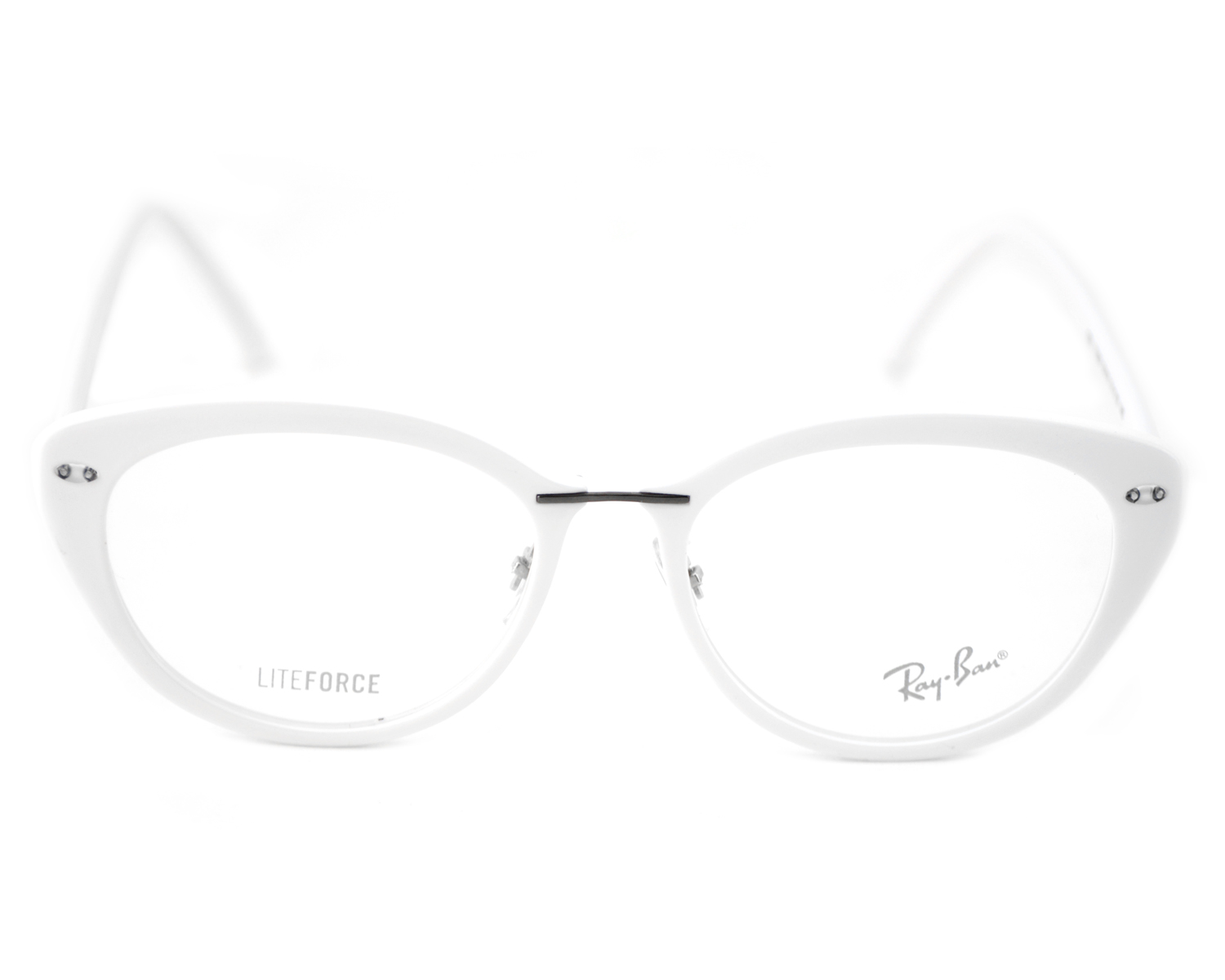 4cd4a68a9d7 Ray-Ban RB7088 Liteforce 5618 White Frame Clear Glass Lenses Unisex Optical  Glasses 51mm