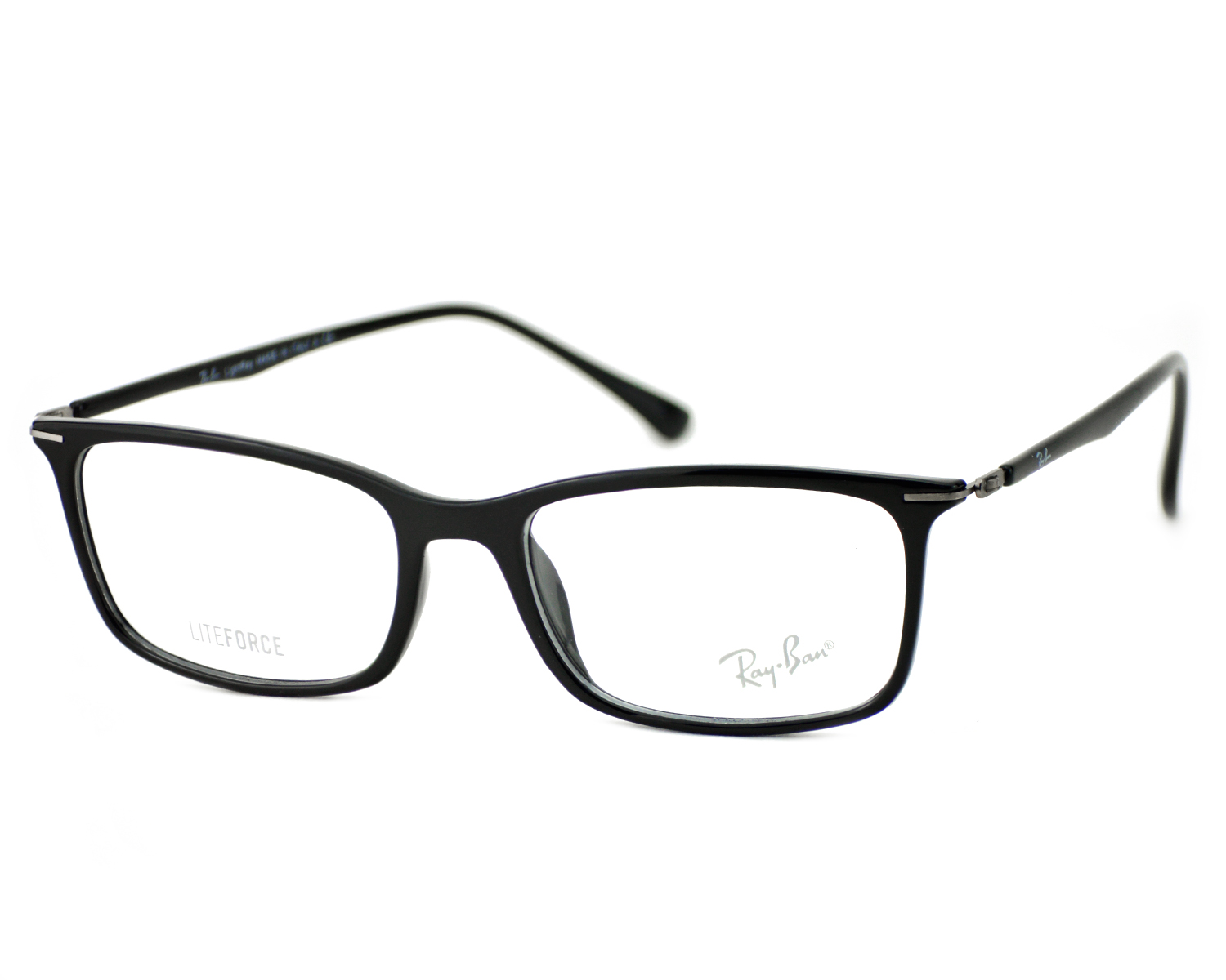 4239001815 Ray-Ban RB7031 Liteforce 2000 Black Frame Clear Glass Lenses Unisex Optical  Glasses 49mm