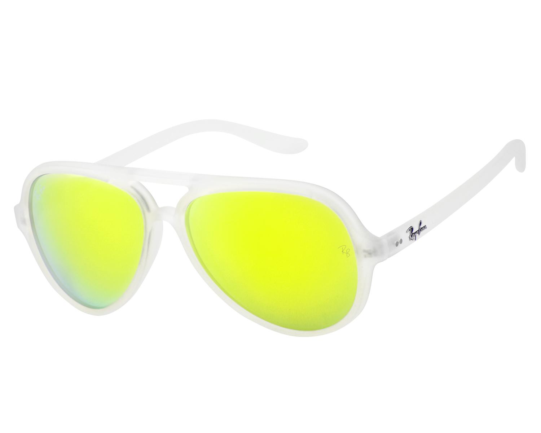 2b1eff8c3b Ray-Ban RB4125 Cats 5000 Flash Lenses 646 93 Transparent Frame Yellow Flash  Unisex Sunglasses 59mm