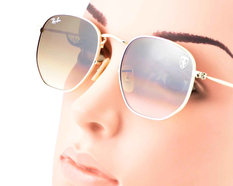 Ray-Ban RB3548NF RB3548NF Hexagonal Flat Lenses F00828 Gold FrameLight  Brown Gradient Lenses Unisex Sunglasses ... 2b8679a4c5e9