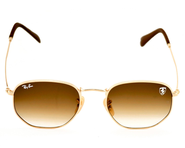 ... Ray-Ban RB3548NF RB3548NF Hexagonal Flat Lenses F00828 Gold FrameLight  Brown Gradient Lenses Unisex Sunglasses ... 42129a6a3d58