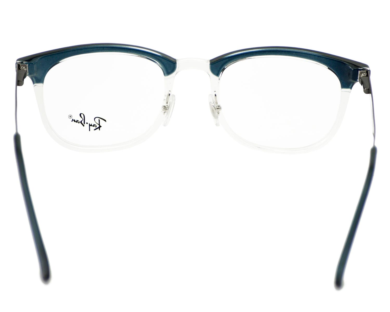 499e1c8740 Ray-Ban RB7112 5684 Blue Transparent Frame Clear Glass Lenses Unisex  Optical Glasses 51mm