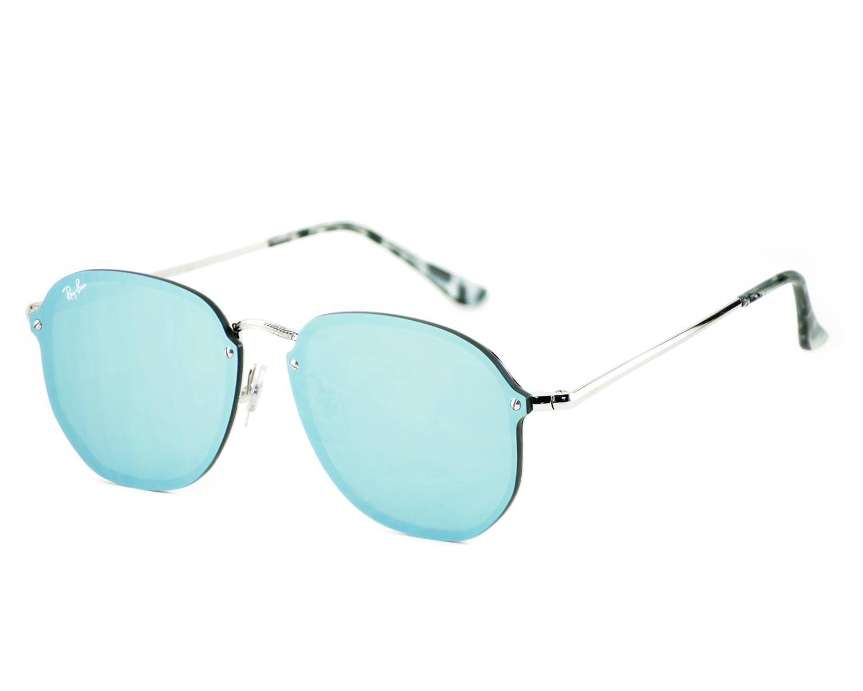 dff8275eab Ray-Ban RB3579N Blaze Hexagonal 003 30 Silver Frame Dark Green Silver  Mirror Lenses Unisex Sunglasses 58mm