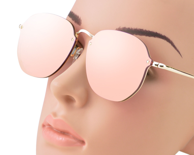 67a30e33d5 Ray-Ban RB3579N Blaze Hexagonal 001 E4 Gold Frame Pink Mirror Lenses Unisex  Sunglasses 58mm