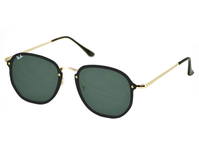78c0f61133 Ray-Ban RB3579N Blaze Hexagonal 001 71 Gold Frame Green Classic Lenses  Unisex Sunglasses 58mm COPY