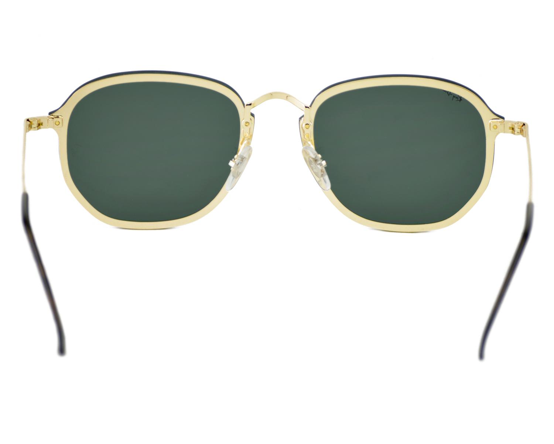 db86592de8b19 Ray-Ban RB3579N Blaze Hexagonal 001 71 Gold Frame Green Classic Lenses  Unisex Sunglasses 58mm COPY