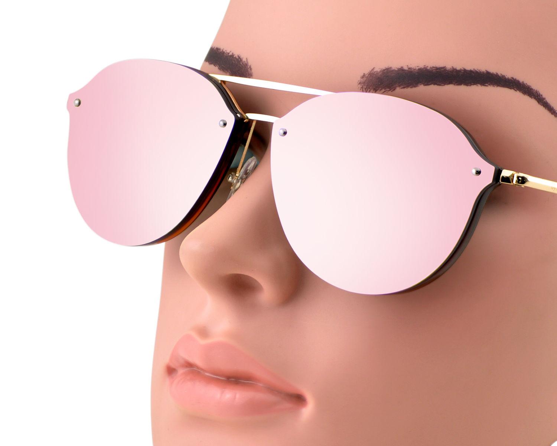 e358b642263 Ray-Ban RB4292N Blaze Double Bridge 6327 E4 Brown Gold Frame Pink Mirror  Lenses Unisex Sunglasses 62mm