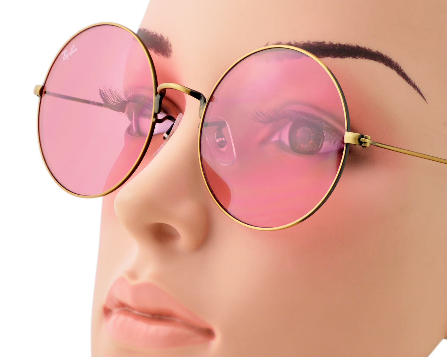 ff3df468e4a Ray-Ban RB3592 JA-JO 9035 F6 Bronze-Copper Frame Pink Classic Lenses Unisex  Sunglasses 55mm
