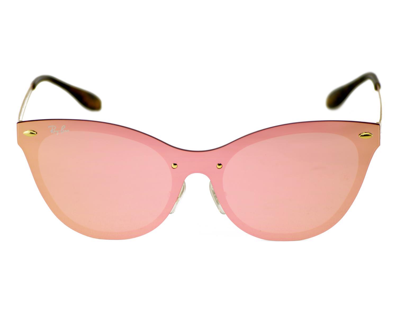 c4b69743aa8 Ray-Ban RB3580N Blaze Cat Eye 043 E4 Gold Frame Pink Mirror Lenses Unisex  Sunglasses 43mm