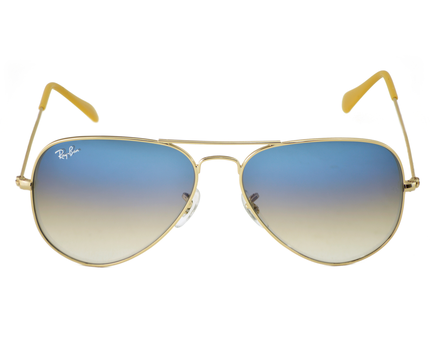 be0592adac Ray-Ban RB3025 Aviator Gradient 001 3F Gold Frame Light Blue Gradient  Lenses Unisex Sunglasses 58mm
