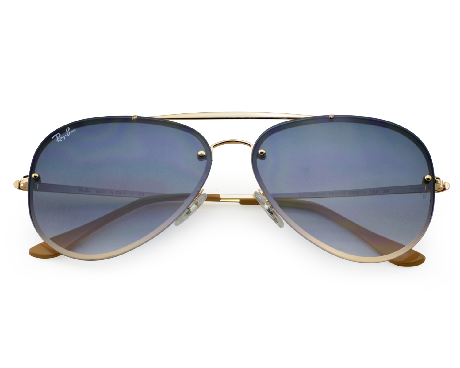 51e71c447a Ray-Ban RB3584N Blaze Aviator 001 19 Gold Frame Light Blue Gradient Lenses  Unisex Sunglasses 58mm