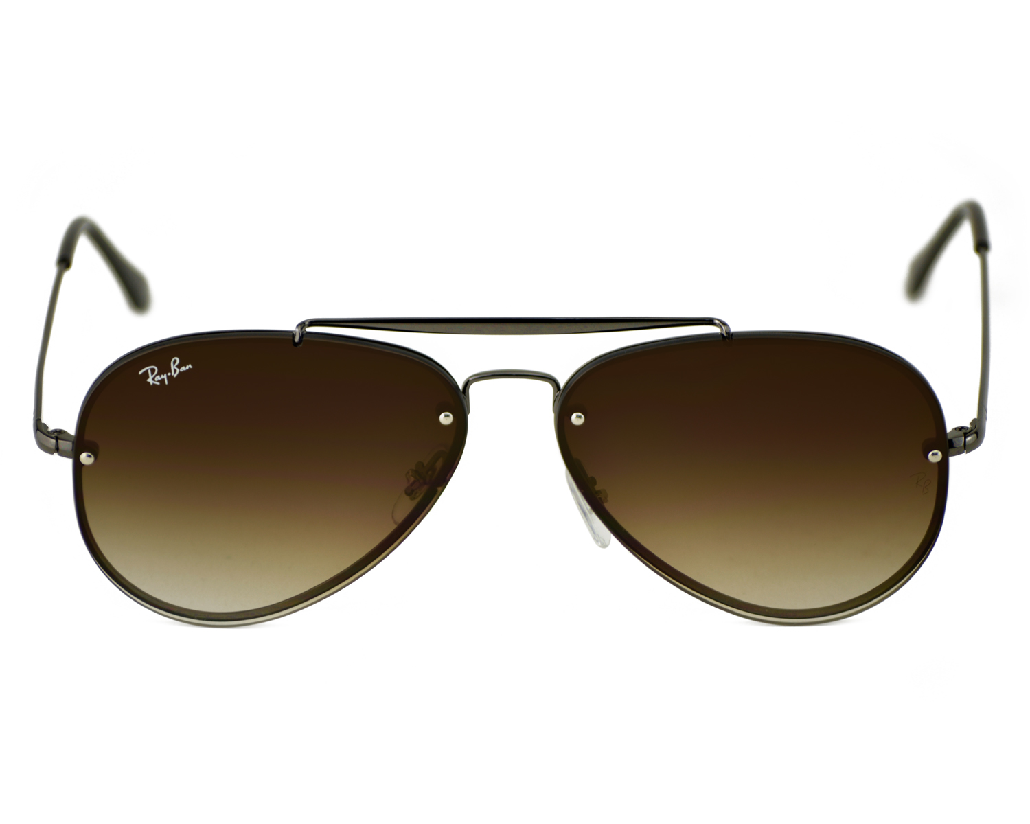 397419a420 Ray-Ban RB3584N Blaze Aviator 004 13 Gunmetal Frame Brown Gradient Lenses  Unisex Sunglasses 58mm