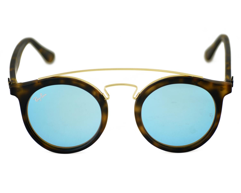 9fc4c14b838 Ray-Ban RB4256-F GATSBY I 6092 55 Tortoise Gold Tortoise Frame Blue ...