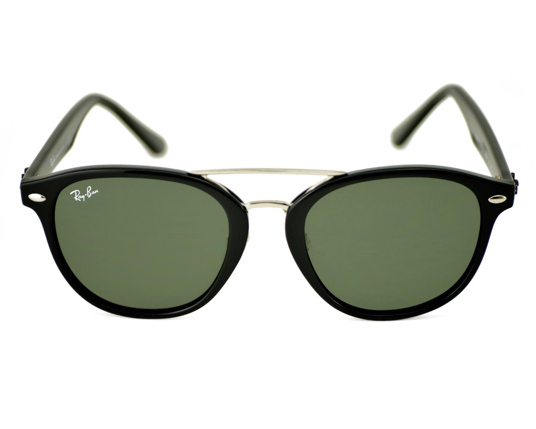 Ray-Ban RB2183 901 71 Black Frame Green Classic Lenses Unisex Sunglasses  53mm 90ea4e1afd