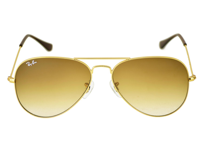 bc70da5f46f Ray-Ban RB3025 Aviator Gradient 001 51 Gold Frame Light Brown Gradient  Lenses Unisex Sunglasses 58mm