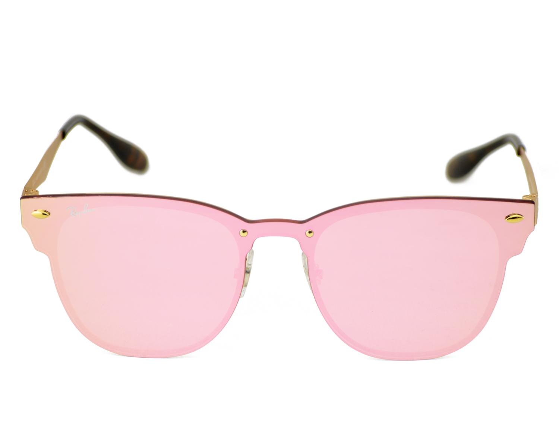 86e14c93514 Ray-Ban RB3576N Blaze Clubmaster 043 E4 Gold Frame Pink Mirror Lenses  Unisex Sunglasses 47mm