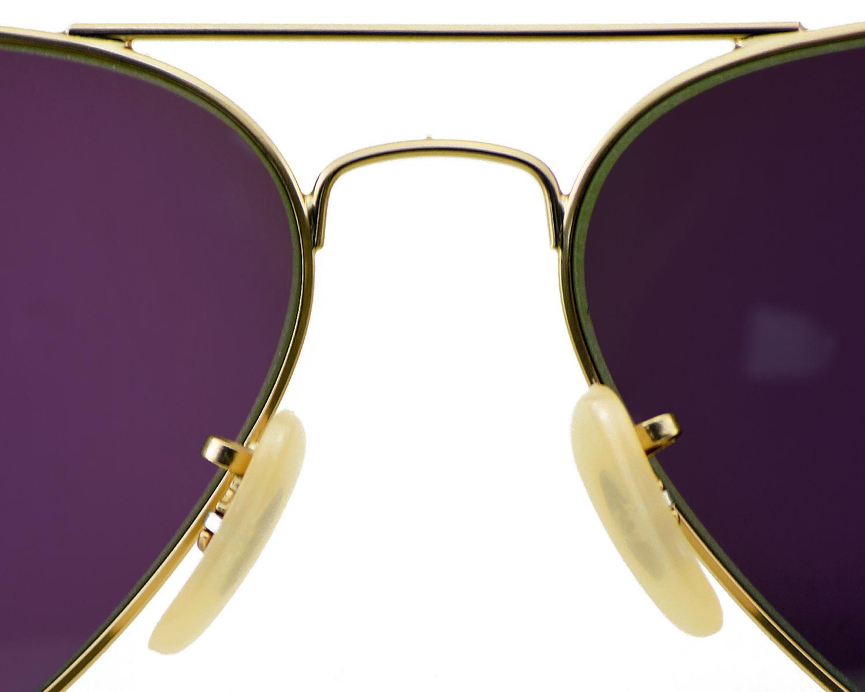 79e8df99754de Ray Ban RB 3025 Aviator Flash Lenses 112 19 Gold frame Green Flash Glass  Lenses Unisex Sunglasses 58mm