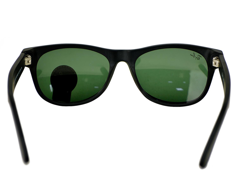 bc25edd143 Ray-Ban RB2132 New Wayfarer Classic 622 Matte Black fame   Green Classic  G-15 Lenses Unisex Sunglasses 52mm