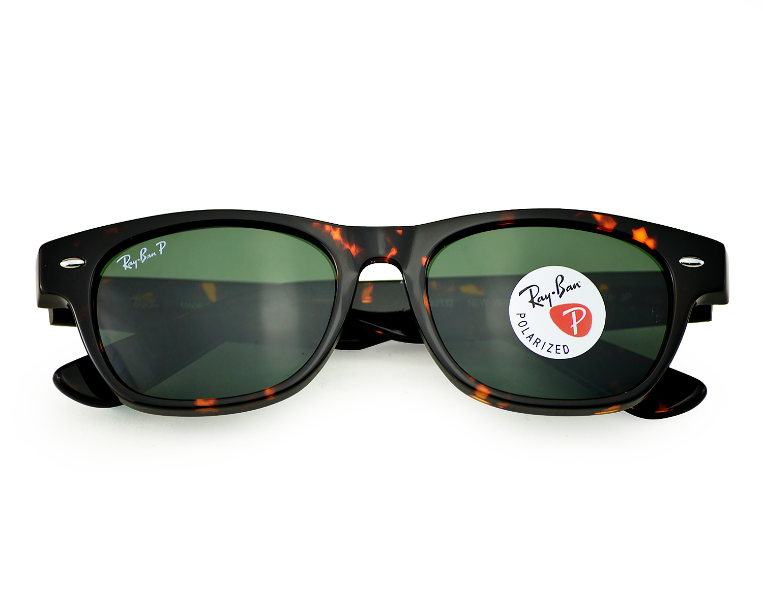 55314e83748 Ray-Ban RB2132 New Wayfarer 902 58 Tortoise Frame  Green Classic G-15  Lenses Polarized Unisex Sunglasses 52mm