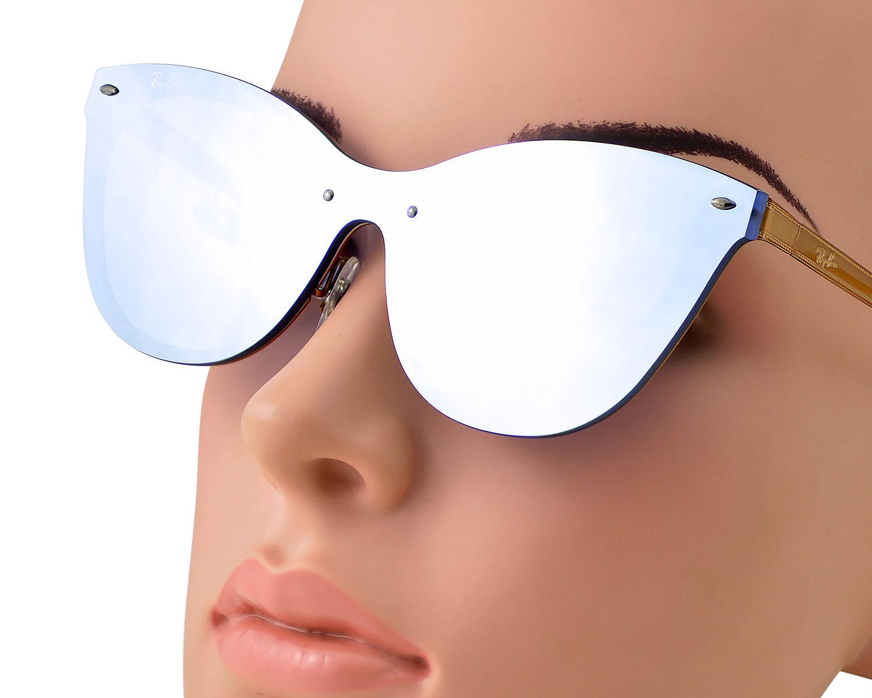 365b5f16dd Ray-Ban RB3580N Blaze Cat Eye 9039 1U Bronze-Copper Frame Violet Mirror  Lenses Unisex Sunglasses 43mm
