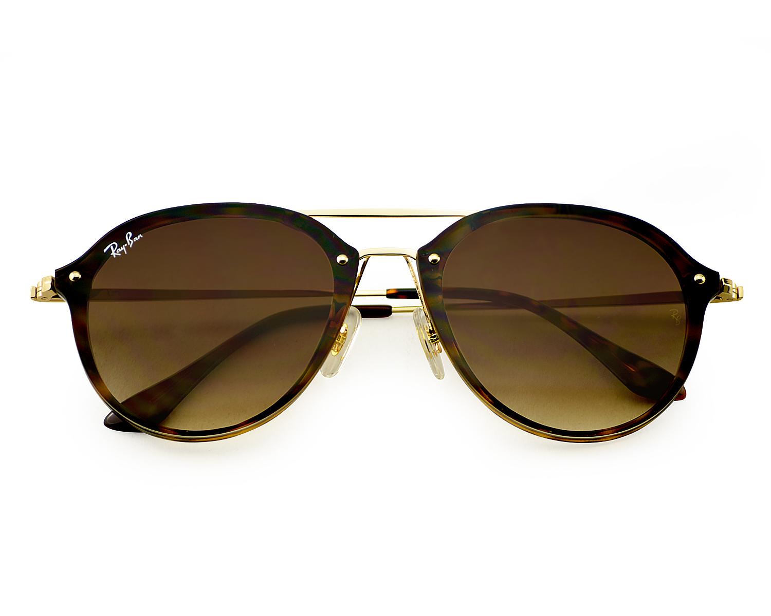 8f0daf21a1d Ray-Ban RB4292N Blaze Double Bridge 710 13 Tortoise Gold Frame Brown  Gradient Lenses Unisex Sunglasses 62mm