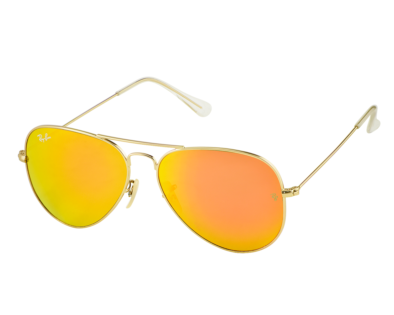 7e9ba00997 Ray-Ban RB3025 Aviator Flash Lenses 112 69 Gold Frame Orange Flash Lenses  Unisex Sunglasses 58mm