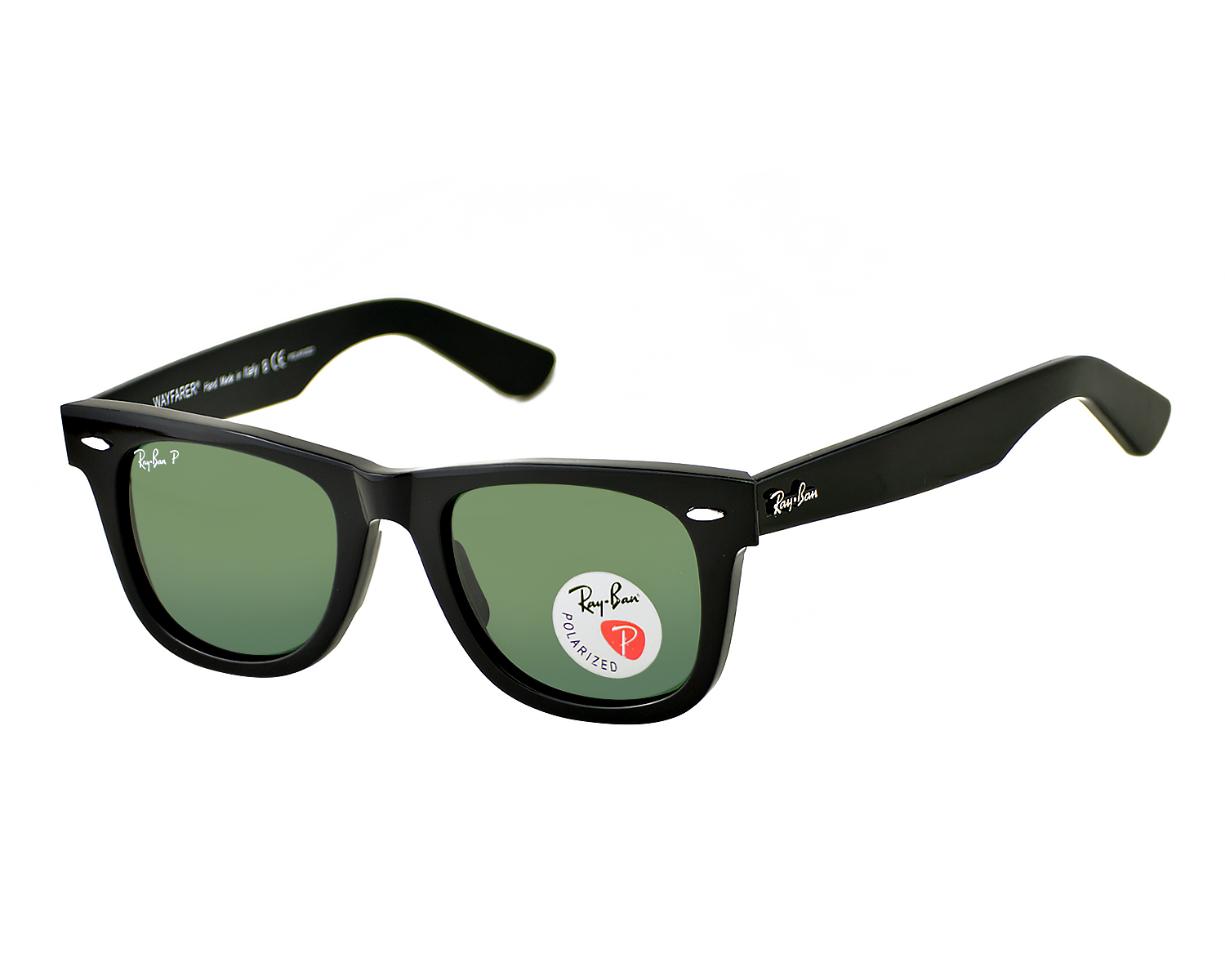 4de82aedf76 Ray-Ban RB2140 Original Wayfarer Classics 901 58 Black Frame Polarized  Green Classic G-15 Lenses Unisex Sunglasses 50mm