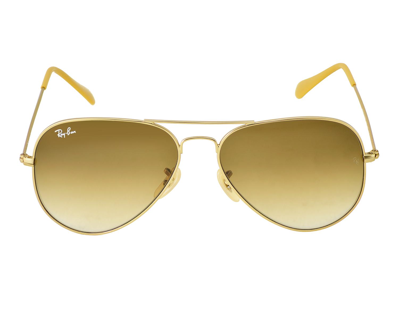4ec870bf29 Ray-Ban RB3025 Aviator Gradient 112 85 Gold Frame Brown Gradient Lenses  Unisex Sunglasses 58mm
