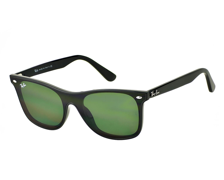 e7ff576e5a5 Ray-Ban RB4440N Blaze Wayfarer 601 71 Black Frame Green Classic Lenses  Unisex Sunglasses 41mm