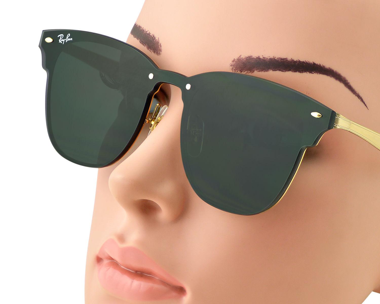 e9b2c1db7a RayBan RB3576N Blaze Clubmaster 043 71 Gold Frame Green Classic Lenses  Unisex Sunglasses 47mm