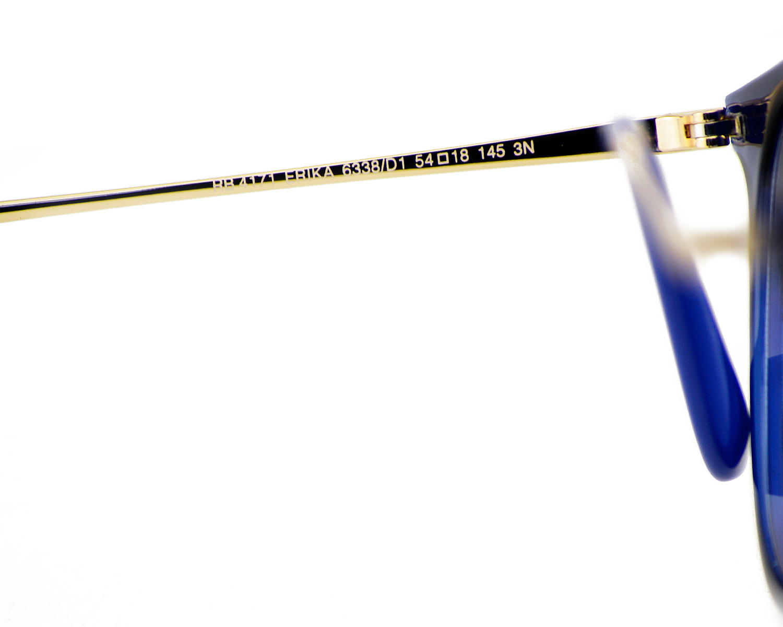 297f7c72de Ray-Ban RB4171 Erika Color Mix 6338 D1 Blue Bronze-Copper Frame Dark Violet  Classic Lenses Unisex Sunglasses 54mm