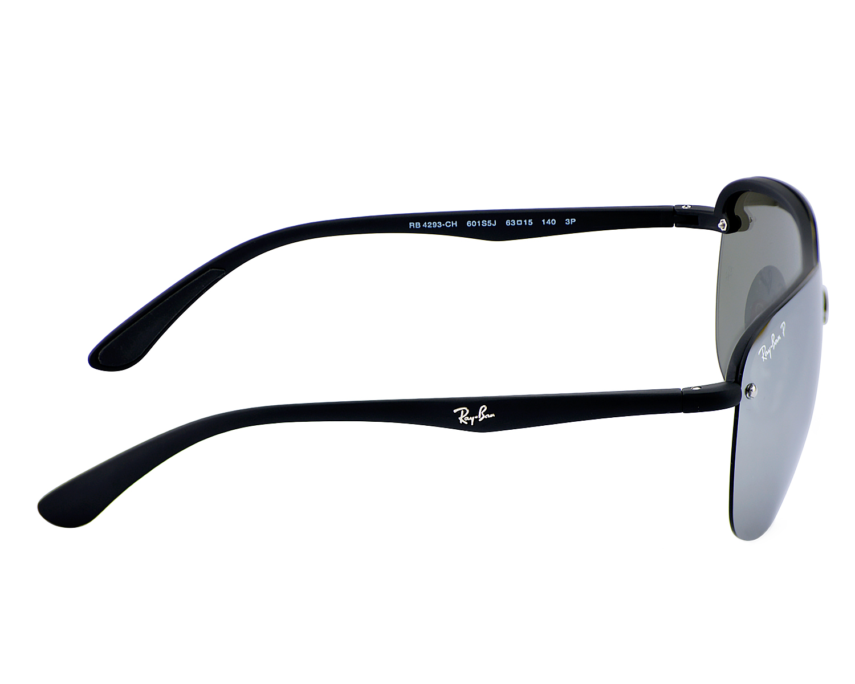 a812aad17 Ray-Ban RB4293CH CHROMANCE 601S5J Black, Silver Mirror Chromance Polarized  Unisex Sunglasses 63mm
