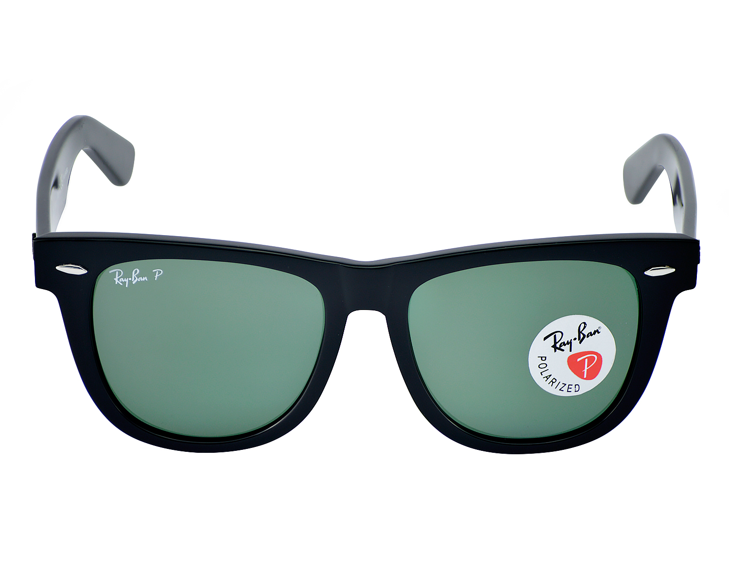 814521943a Ray Ban RB2140 901 58 Original Wayfarer Classics Black Frame  Polarized  Green Classic G-15 lenses Sunglasses 54mm
