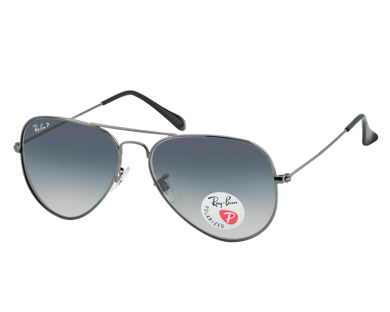d89c992332 Ran-Ban RB3025 Aviator Gradient 004 78 Polarized Blue Grey Gradient Lens  Sunglasses 58mm