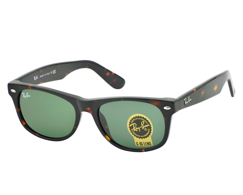 ec2d266321f8 Ray-Ban RB2132 NEW WAYFARER CLASSIC 902 Tortoise, Green Classic G-15 Unisex  Sunglasses 52mm