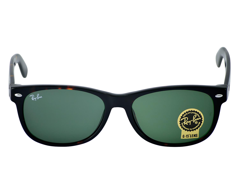 bd70a2d2401d Ray-Ban RB2132 NEW WAYFARER CLASSIC 902 Tortoise, Green Classic G-15 Unisex  Sunglasses 55mm