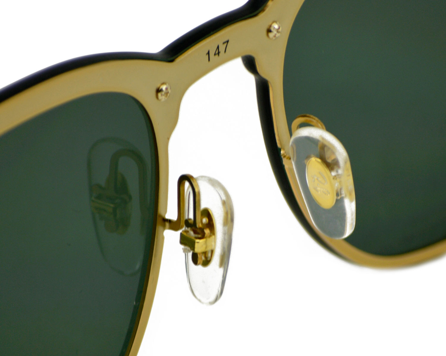 a63538c9fd213 Ray-Ban RB3576N Blaze Clubmaster 043 71 Gold Frame Green Classic Lenses  Unisex Sunglasses 47mm